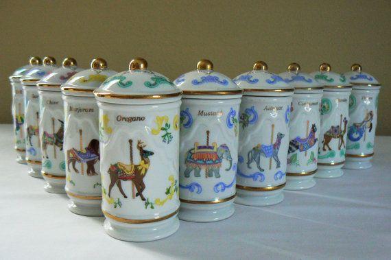 Set of 10 Vintage Lenox Carousel Porcelain by SpringRainVintage