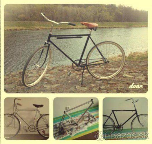 Predám kompletne zrenovovaný retro cestný bicykel Eska - 1