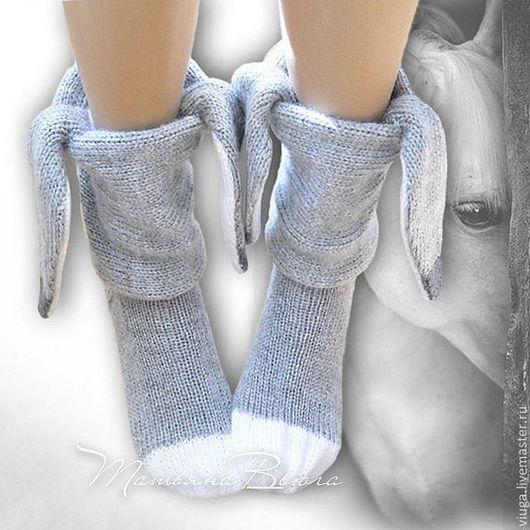 носки вязаные теплые спицами на спицах носки для дома смешные носки с ушками носки для девочки девушки женщины домашняя вязаная шерстяная обувь сапожки для дома вязаные шерстяные носки в виде животных