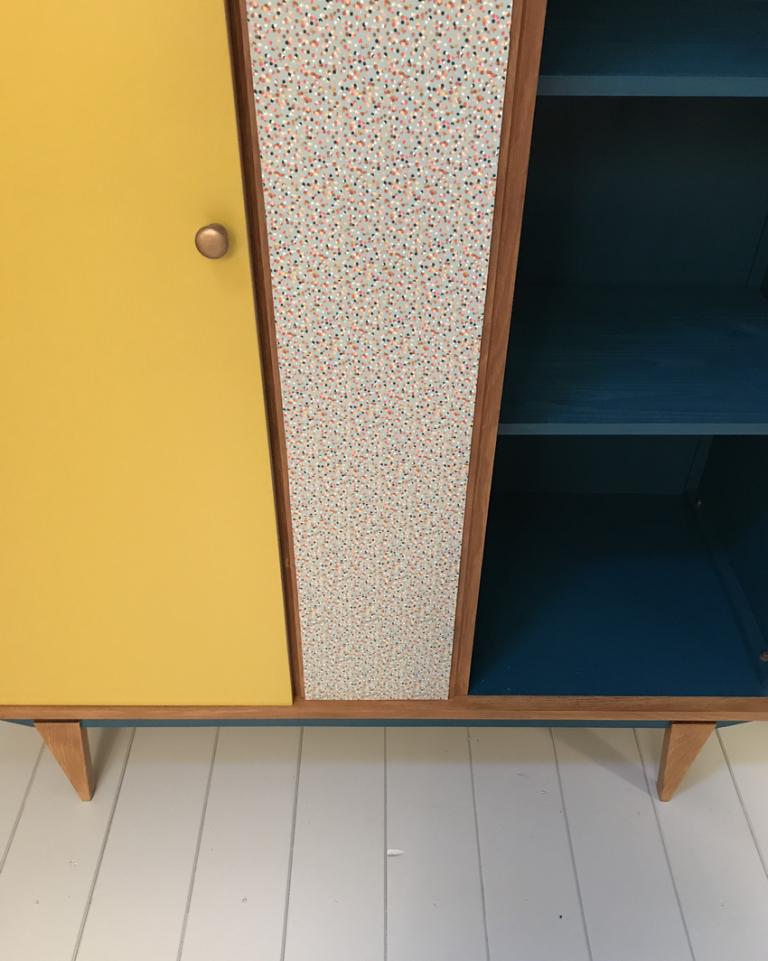 Armoire Vintage Honorine 6 Relooking Meuble Mobilier De Salon Renovation Meuble