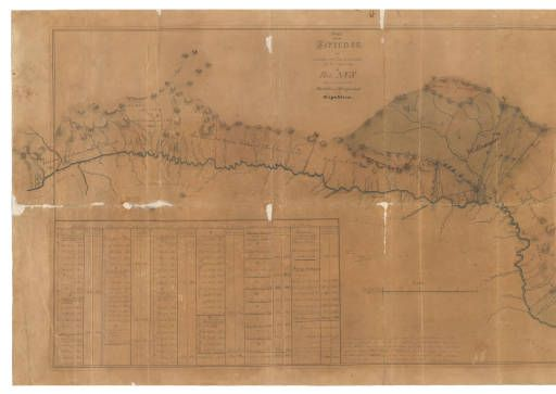 Parte de los terrenos que situados sobre las vertientes por la izquierda al rio Nus han sido reconocidos :: Cartografía histórica