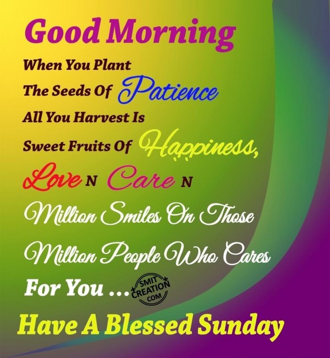 Good Morning Happy Sunday Morning Good Morning Happy Sunday