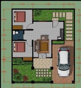 Denah Rumah Minimalis Type 45 Minimalist Home Design In 2018