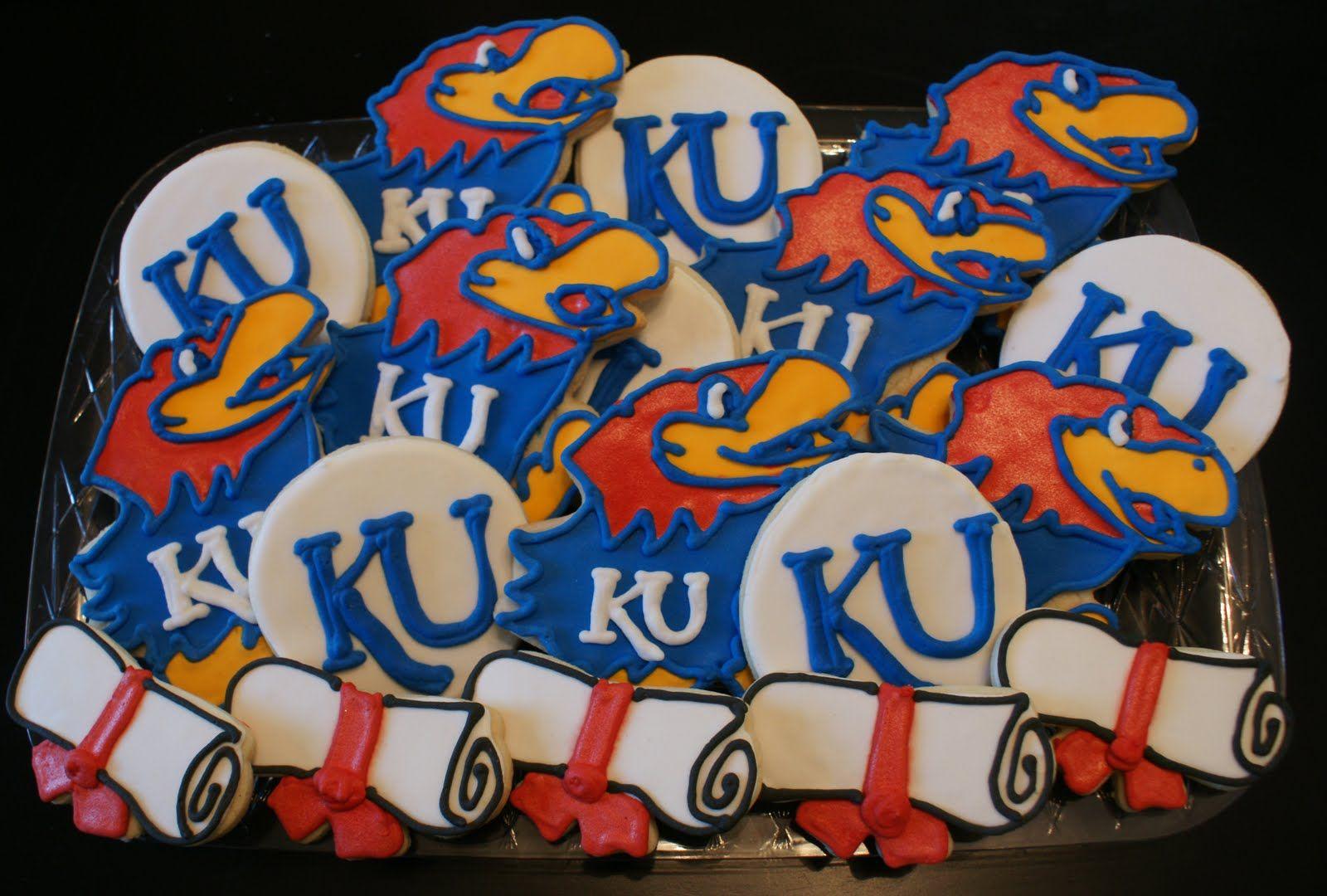 Kuwoohoo graduation cookies rock chalk jayhawk