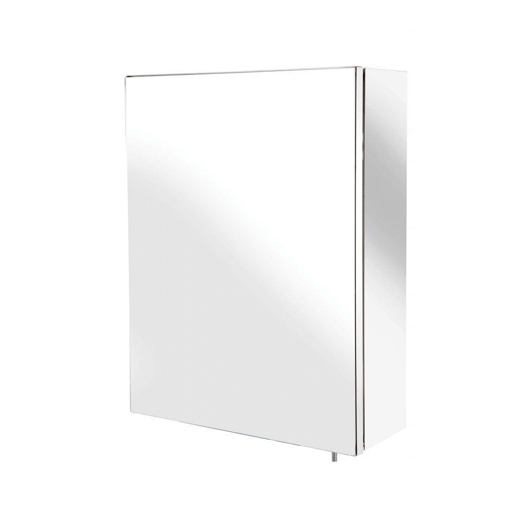Croydex Anton Double Door Stainless Steel Mirrored Bathroom Cabinet