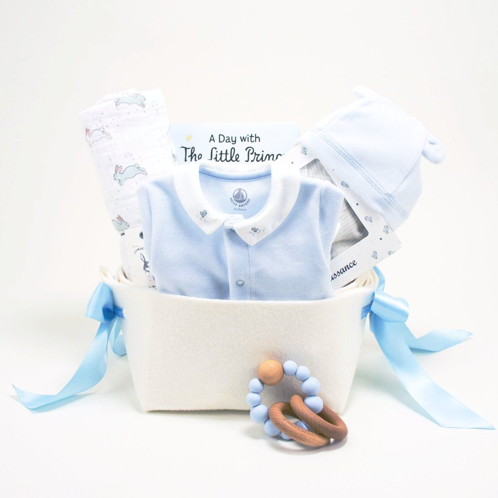 Welcome home baby boy gift basket - Little Prince at Bonjour Baby ...