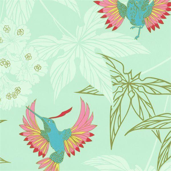 Papier peint vert or satiné Grove Garden – Osborne & Little
