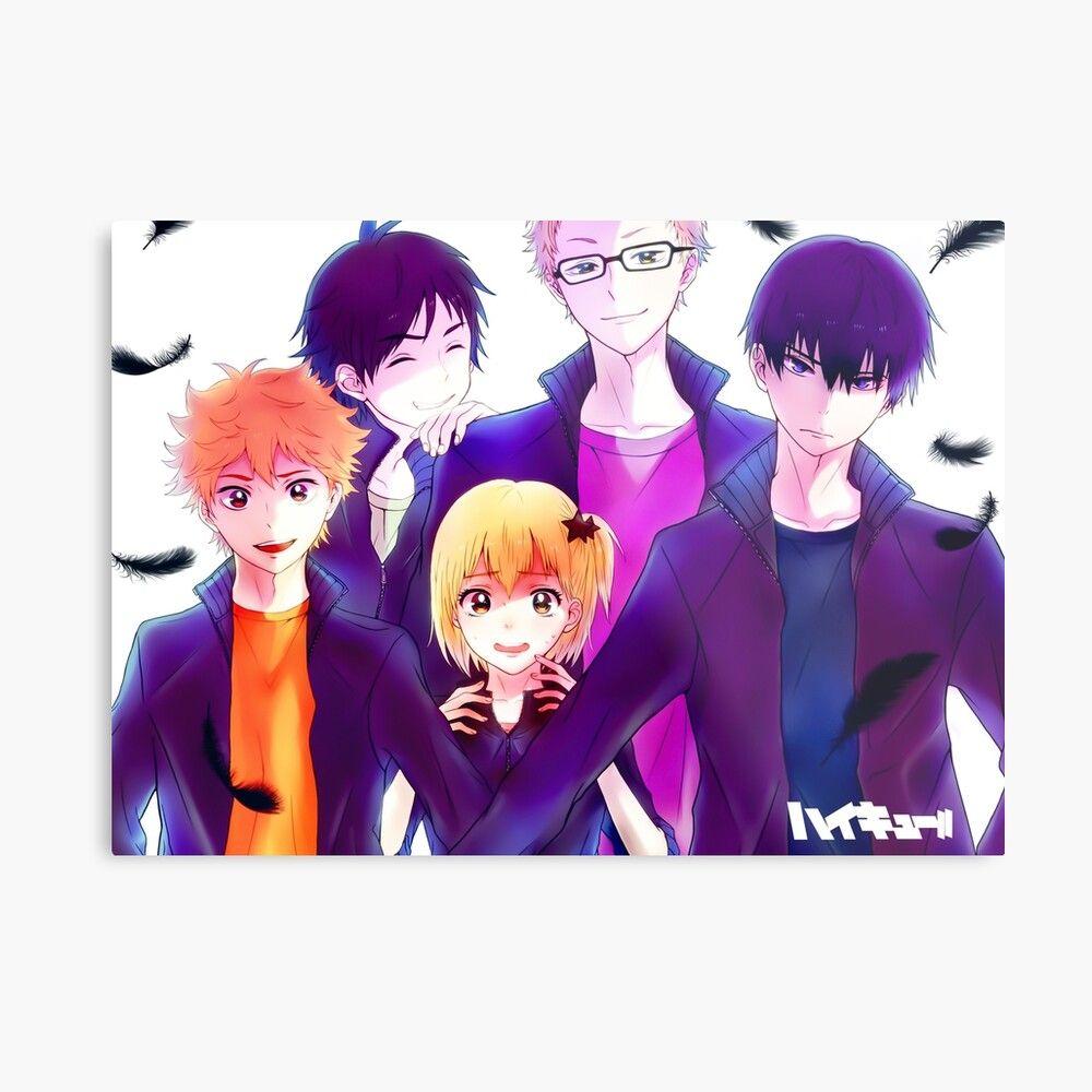 Get My Art Printed On Awesome Products Support Me At Redbubble Rbandme Https Www Redbubble Com I Metal Print Anime Manga Haiky In 2020 Haikyuu Anime Haikyuu Anime