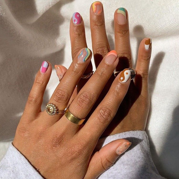 Skip the Salon: How to Execute 5 Beautiful Nail-Art Ideas at Home — Who What Wear -   beauty Nails art
