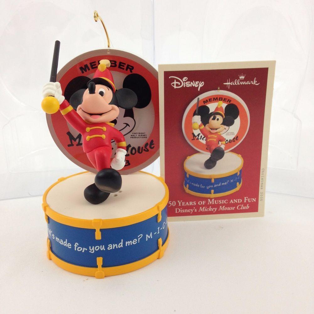 Hallmark 2005 Disney Ornament Mickey Mouse Club 50 Years Of Music Magic 4075 Hallmark Mickey Mouse Club Disney Ornaments Mickey Mouse