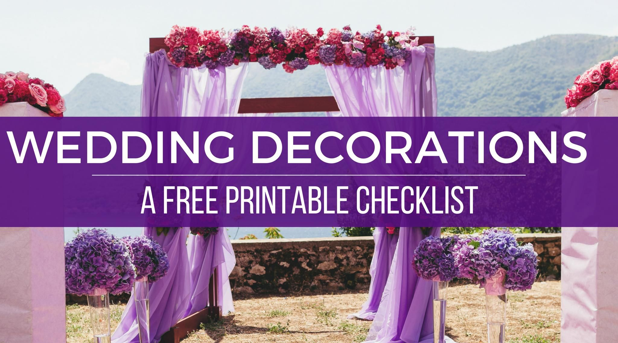 Wedding Decorations On A Budget A Free Printable