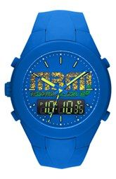 I WANT!!!  MARC BY MARC JACOBS 'X-Up' Ana-Digi Silicone Strap Watch, 47mm