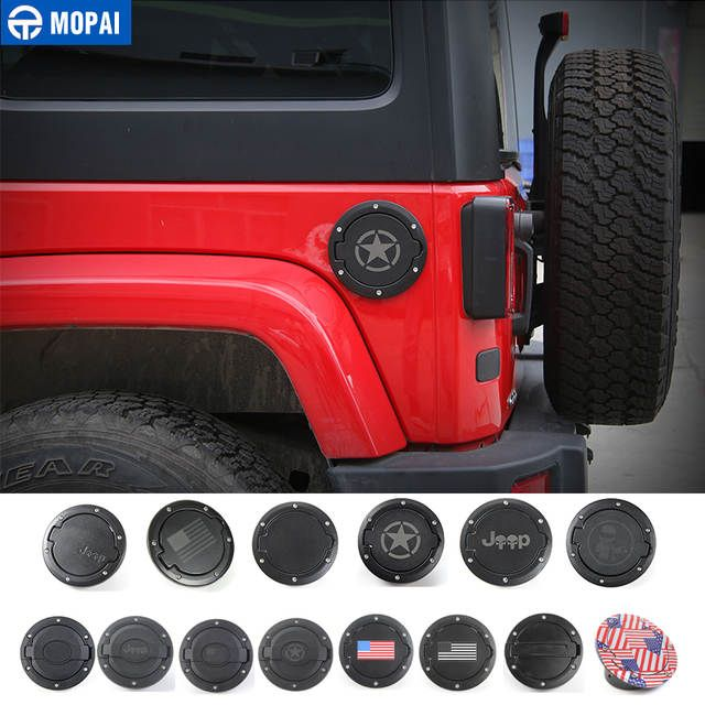 Mopai Tank Covers For Jeep Wrangler Jk 2007 2017 Car Oil Cap Fuel