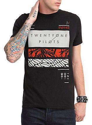 Twenty One Pilots Rectangles T Shirt Black My Dream Closet Other