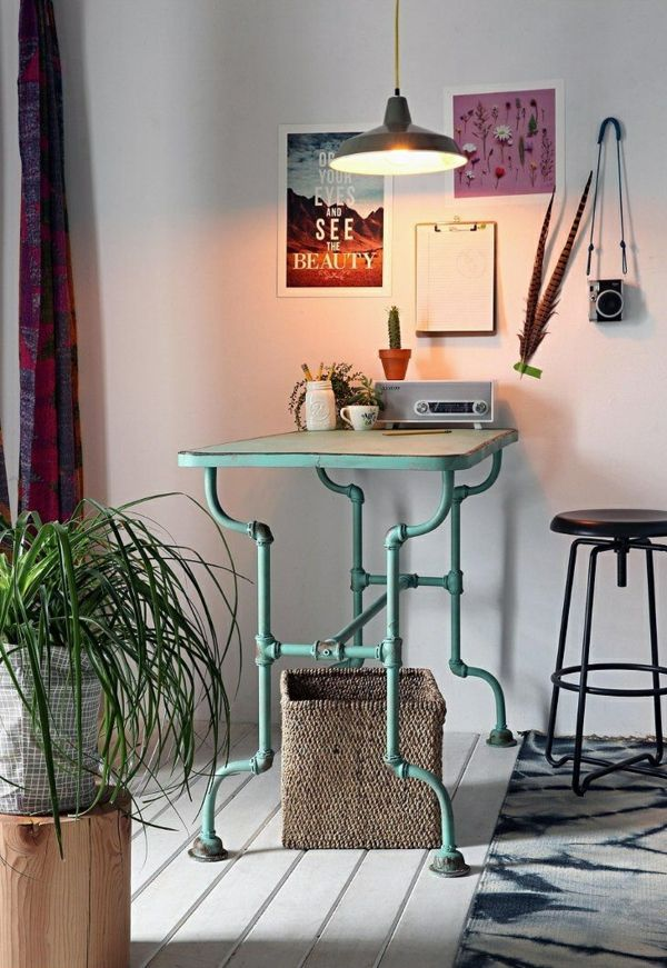 Design möbel selber bauen  Industrial Design Möbel tisch selber bauen röhre | Industrial ...