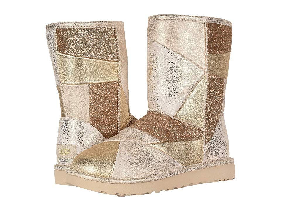 9798fce5f49 UGG Classic Glitter Patchwork (Gold) Women's Pull-on Boots ...
