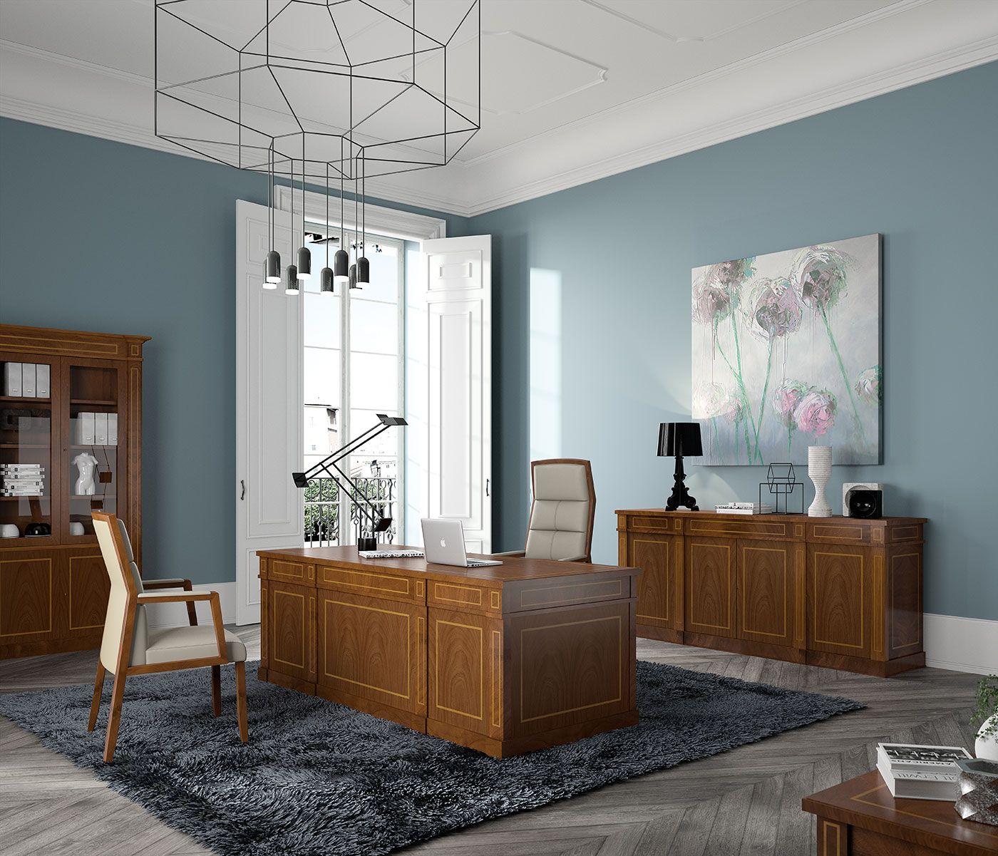 Muebles Cl Sicos De Oficina De La Serie Art Luxe Con Acabados En  # Muebles De Oficina Wagner