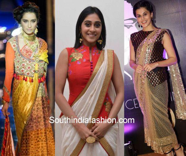 282582efaf82d9 6 Ways of using a 'Jacket Blouse' to style your saree | kurti ...