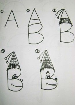 How To Teach Kids To Draw Using The Alphabet Art Work Pinterest