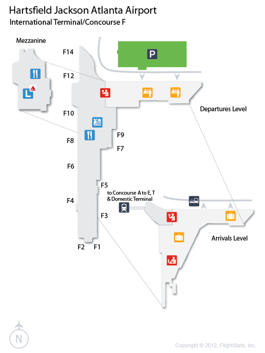 ATL HartsfieldJackson Atlanta International Airport Terminal Map
