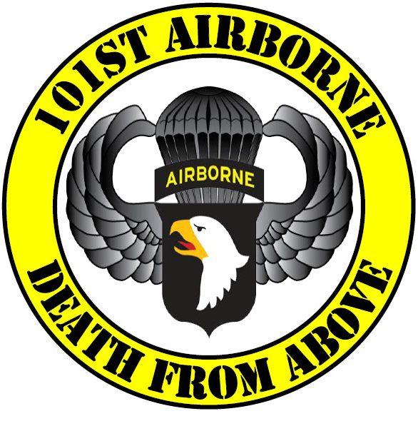 101st AIRBORNE PATCH Vinyl Decal Car Window Bumper Sticker Tab 101 Army Infantry