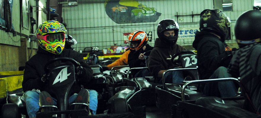 Flags And Wheels Racing Karts Bumper Cars Paintball Laser Tag Batting Cages Indoor Racing Racing Batting Cages