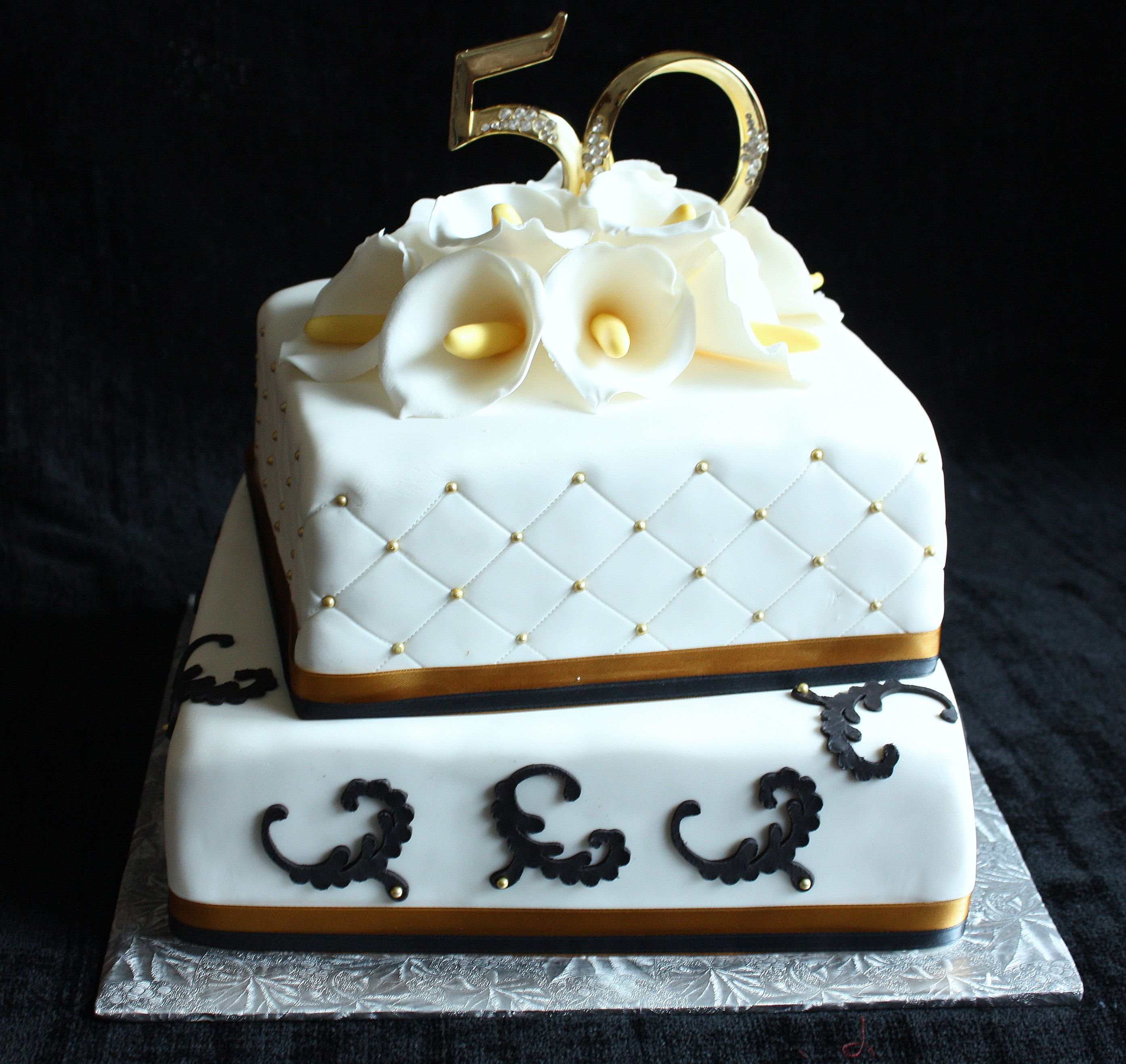 50Th Anniversary Cake (With images) 50th anniversary