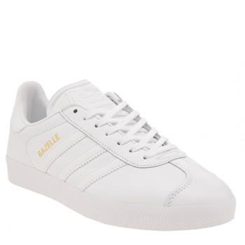 sports shoes d45d7 7e0ac A retro classic, discover our range of adidas Gazelle trainers for women,  men   kids at schuh. Adidas White Gazelle Leather ...