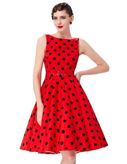 5603efad34a Belle Poque Women Summer Dress 2017 Rockabilly Audrey Hepburn Tunic robe  Casual Clothing Vestidos 50s Vintage Plaid Dresses