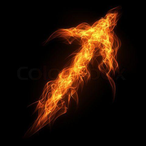 5fa5c84fcbda6 flaming arrows | Stock image of 'Burning fire arrow on the black background'