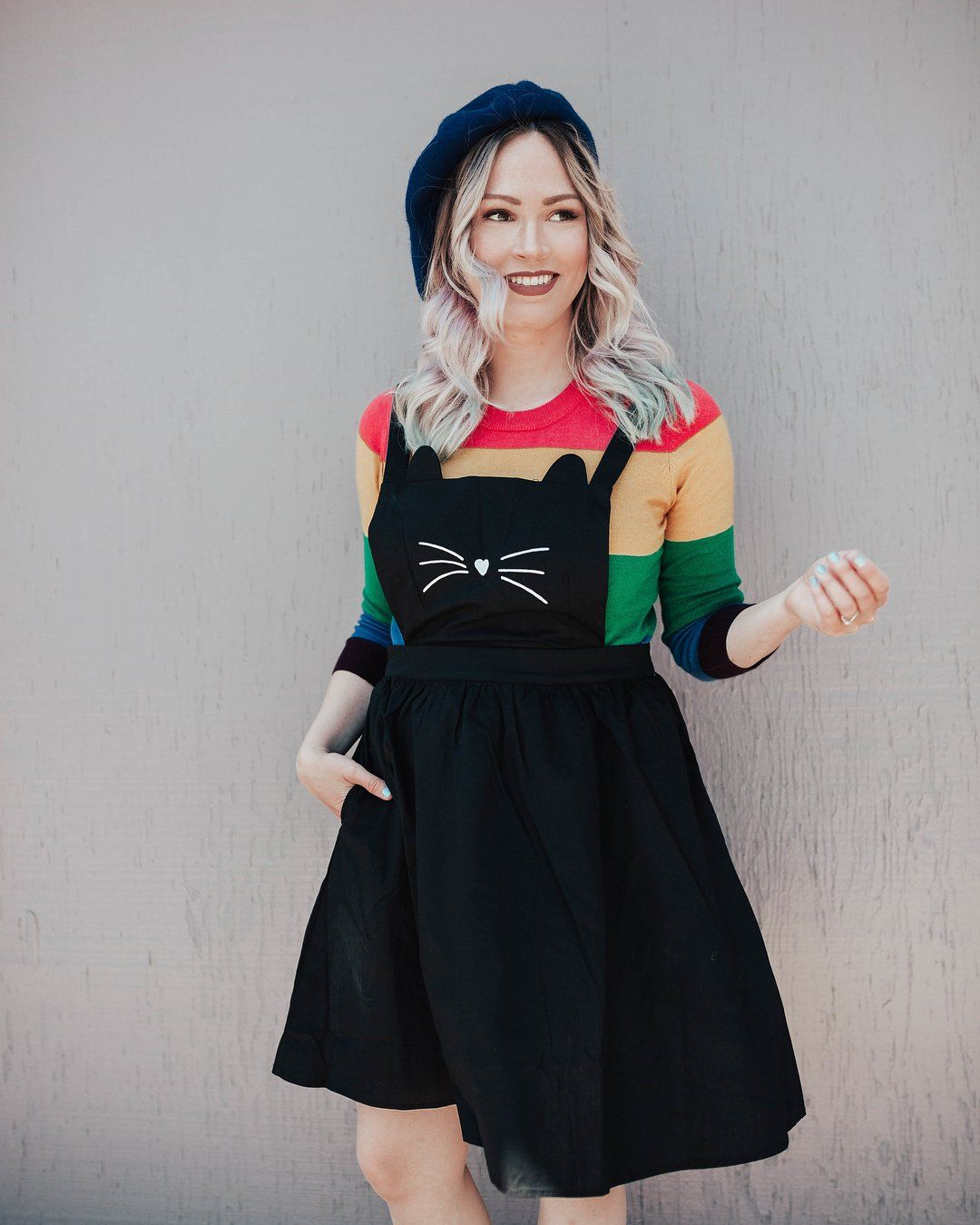 e5d8343d48 Cat Meow Pinafore Dress by ModCloth