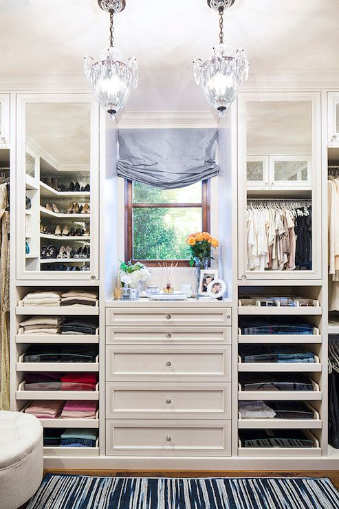 Shallow T Shirt And Sweater Drawers Mirrored Cabinets Built In