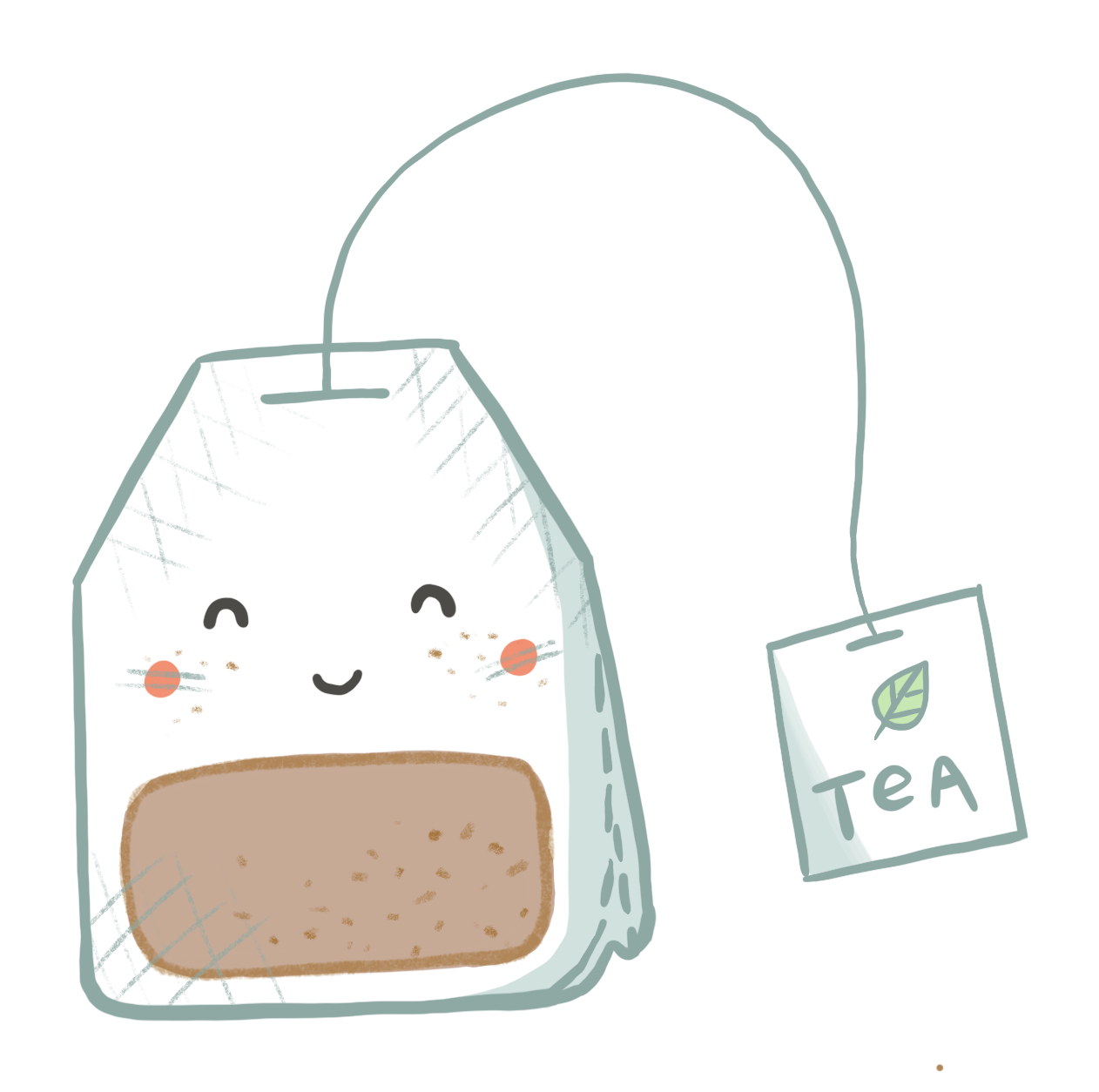 Teabag Bag Illustration Cute Laptop Stickers Abstract Iphone Wallpaper