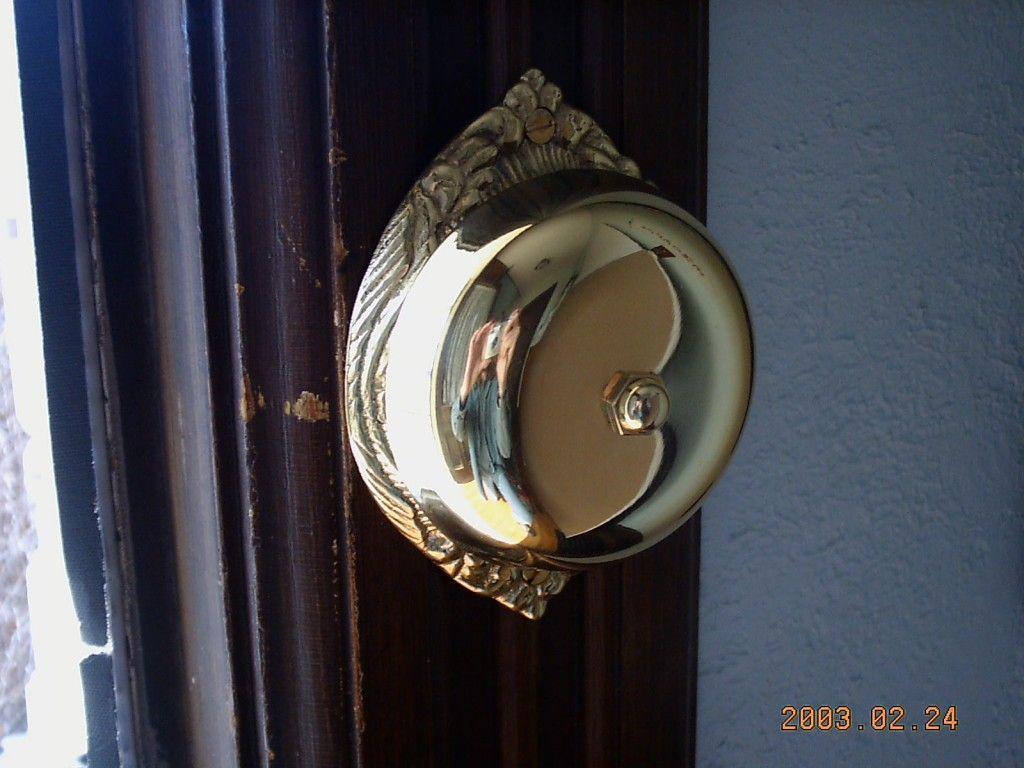 victorian mechanical twist doorbell installed on door frame instead of door & victorian mechanical twist doorbell installed on door frame instead ...