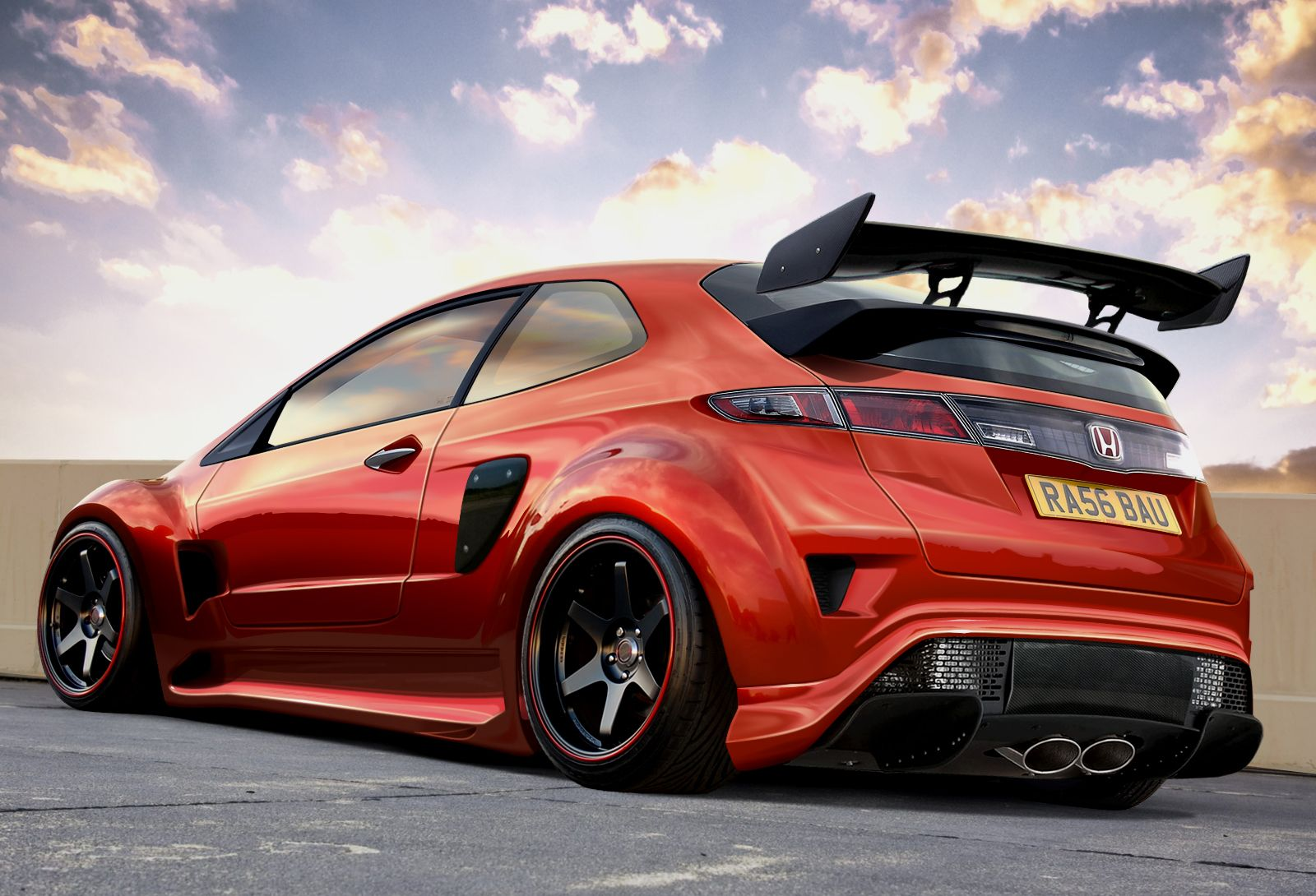 honda civic type r by ras tuner my cars pinterest. Black Bedroom Furniture Sets. Home Design Ideas