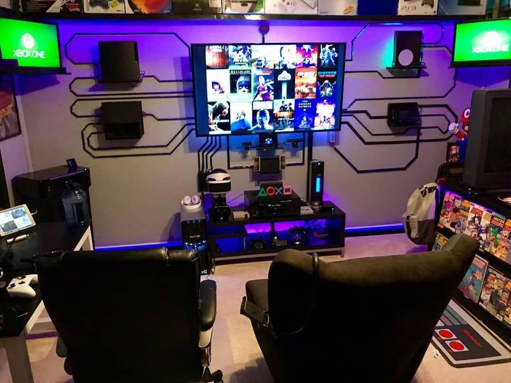 Small Cubicle Game Station By Nintendo Master1 Video Game Rooms Gaming Room Setup Game Room