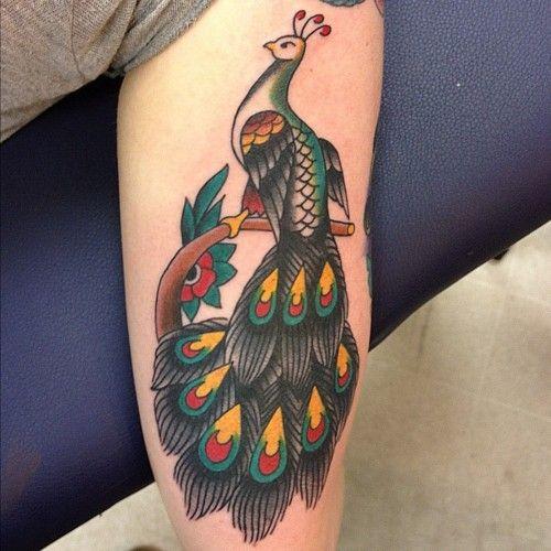 rad peacock tattoo