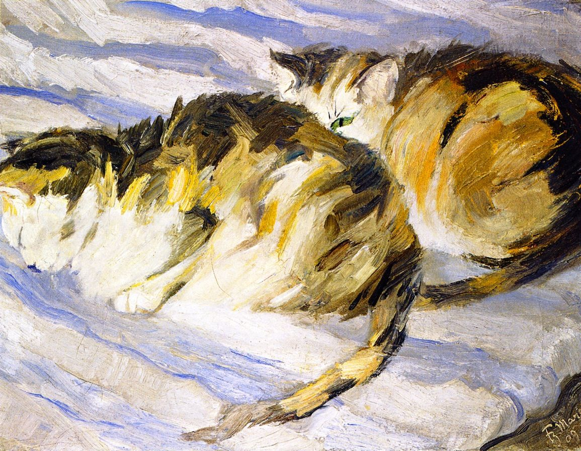 Franz Marc, Two Grey Cats (Study of Cats II), 1909