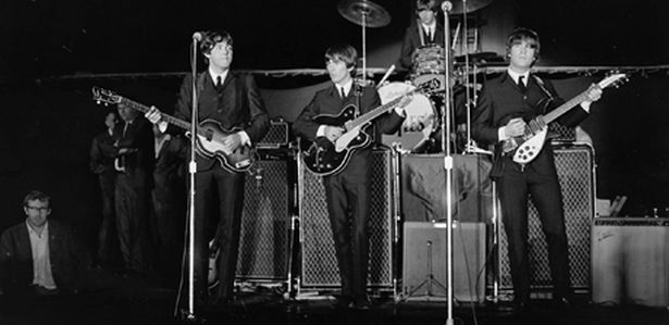 Mal Evans with The Beatles