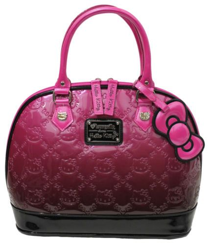 Loungefly Hello Kitty Pink Ombre Patent Embossed Bag