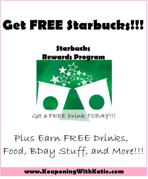 starbucks rewards program get a free drink just for signing up