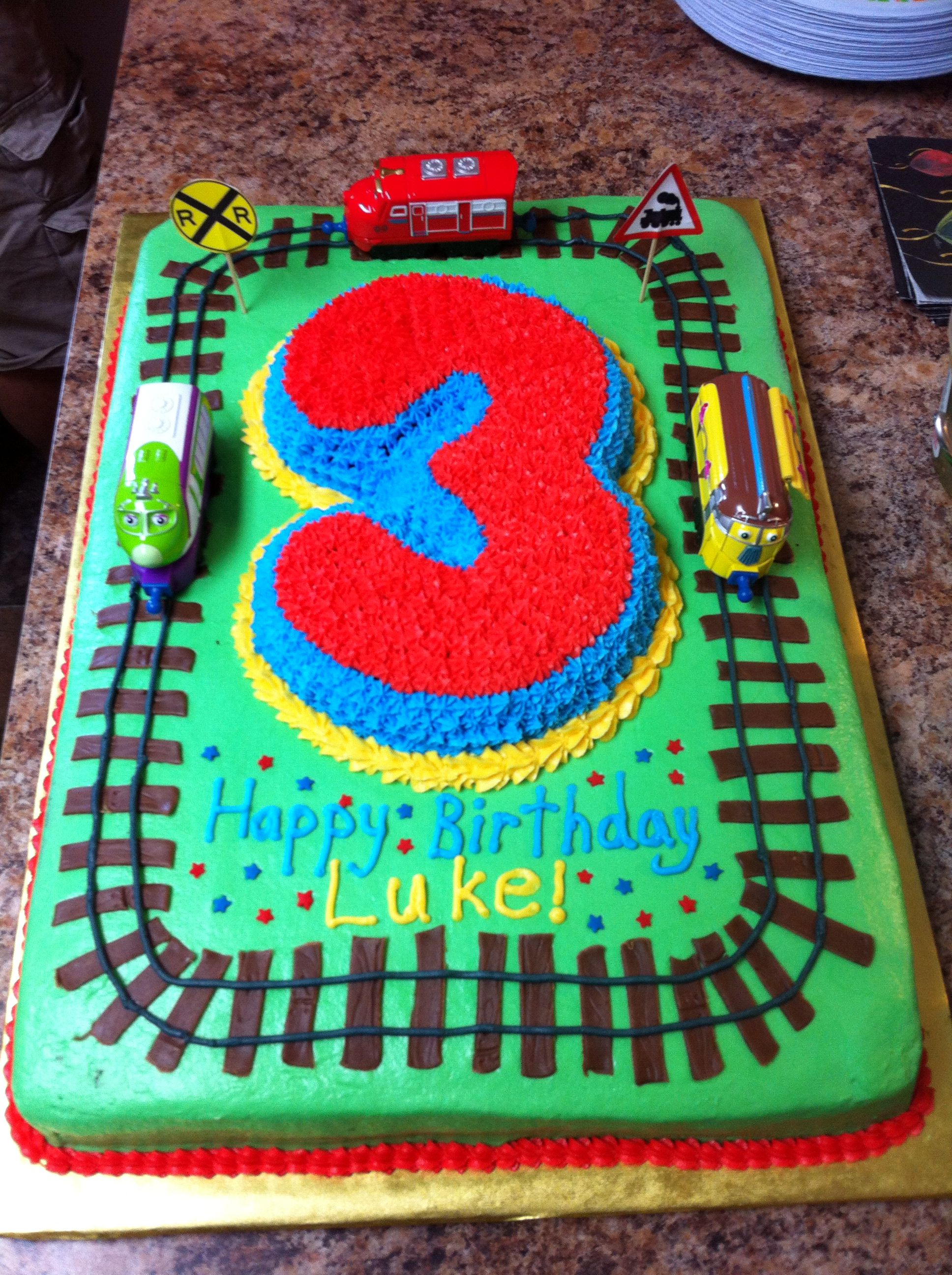 3 year old Chuggington cake Megan something similar to this for