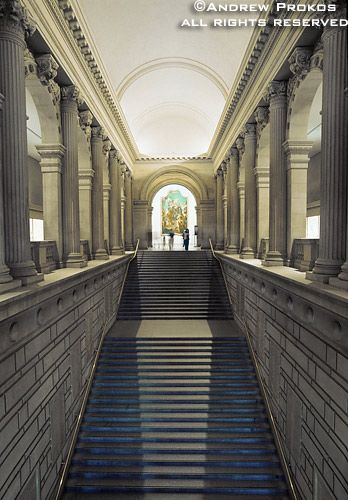 Metropolitan Museum Great Hall Stairs Fine Art Photo By