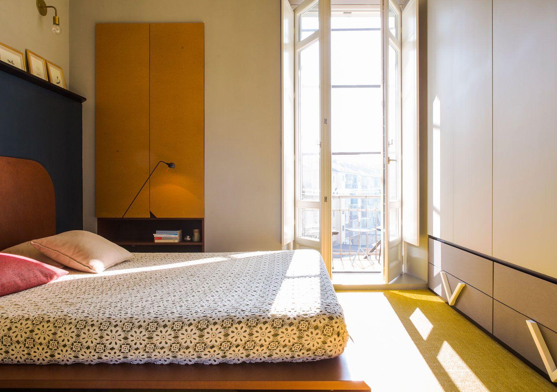 Neues schlafzimmer interieur promenade apartment in turin by sceg architects  interior