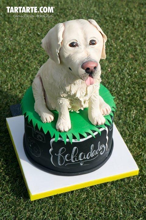 Golden Retriever Cake Cake By Tartarte Fondant Dog Dog Cakes