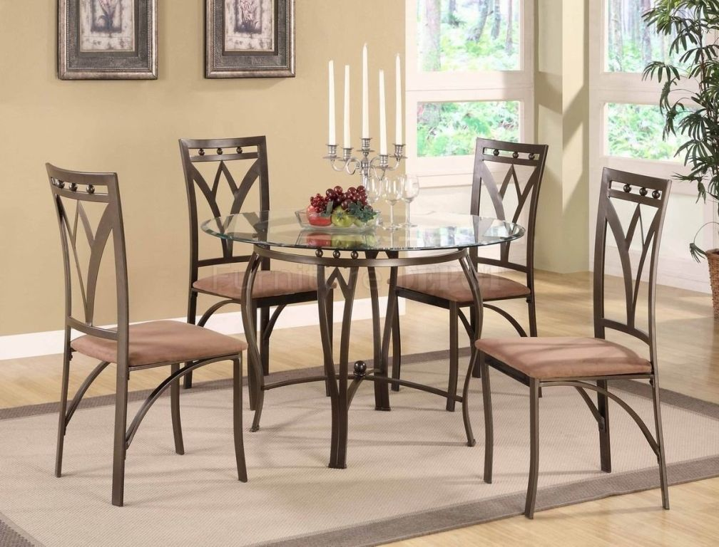 Round Glass Dining Table With Metal Base Wallpaper Home Office