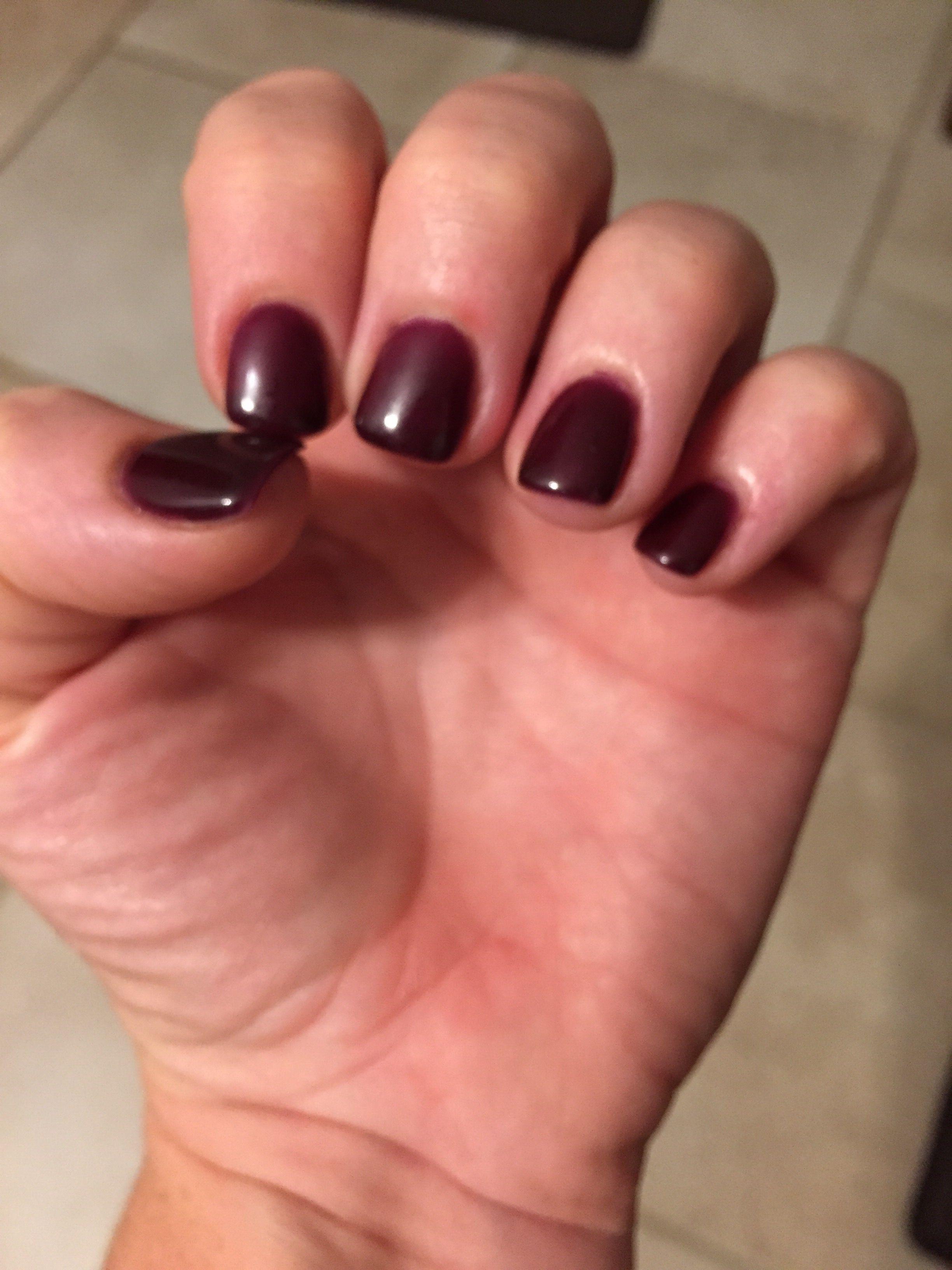 OPI gel color Vampsterdam - kinda like a red wine color. Love it ...