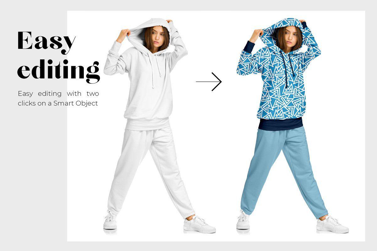 Download Female Sport Suit Mockup Set Clothing Mockup Sports Women Sports Suit
