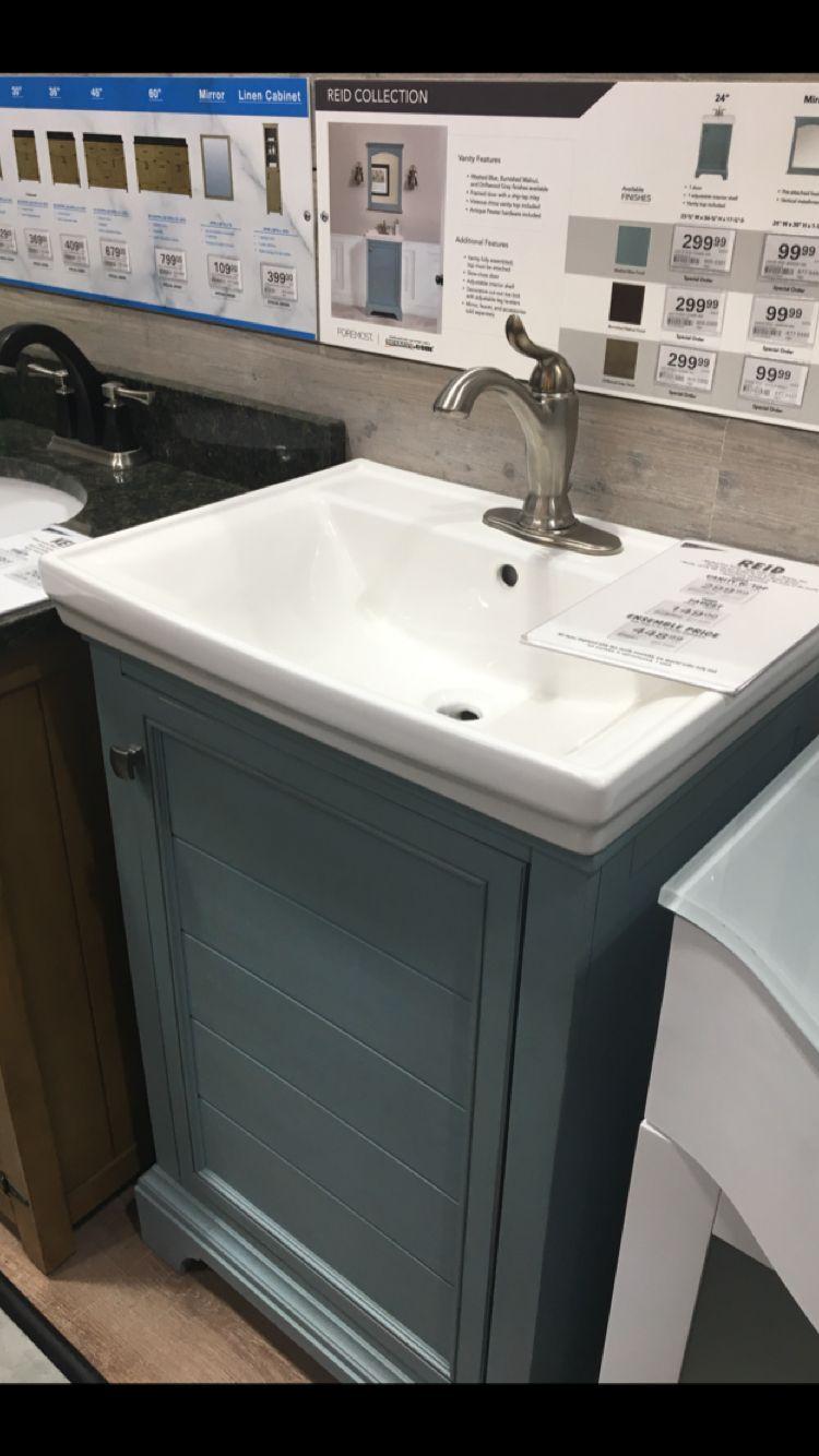 Menards Foremost Reid Blue Vanity Blue Vanity Bathrooms Remodel