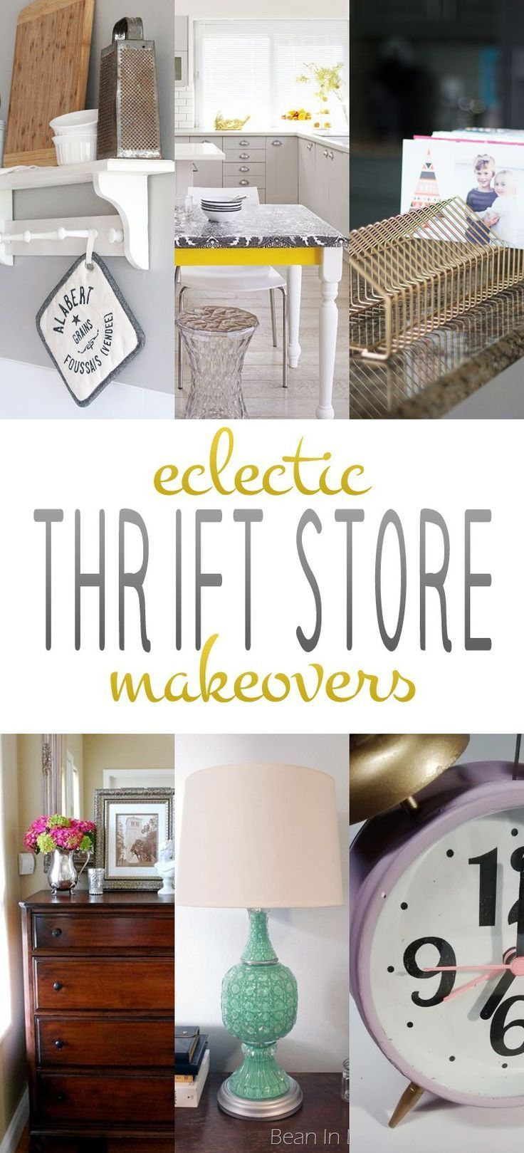Eclectic Thrift Store Makeovers #thriftstorefinds Eclectic Thrift Store Makeovers #thriftstorefinds